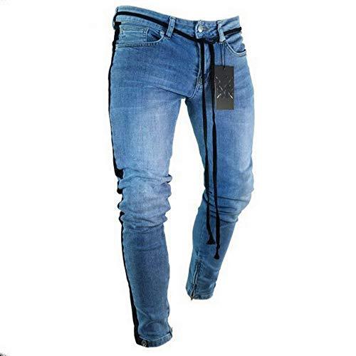 84d7a75e07 Mens Skinny Jeans Pant Casual Trousers Denim Stretch Pencil Pants Plus Size