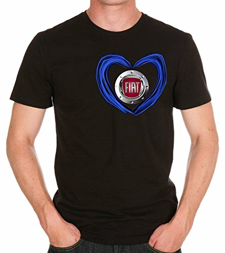 Fiat Love Logo AUTO FUN T-SHIRT -773