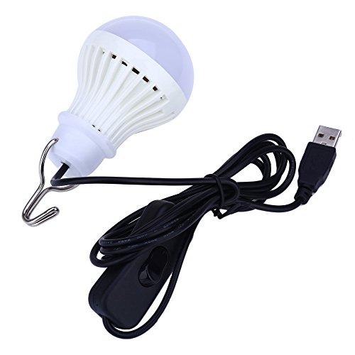 Meiyiu LED Light for Camping, Children Bed Lamp, Portable LED Bulb, Emergency Light White - Grape Emergency Kids