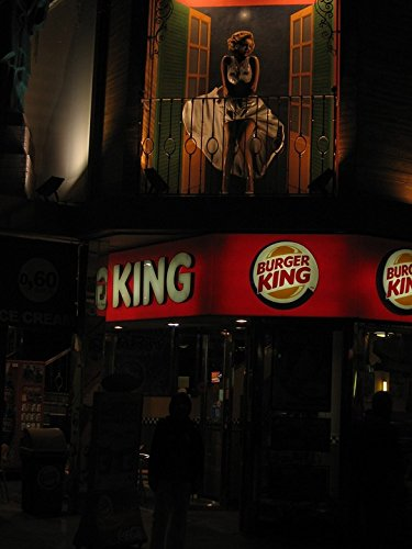 Home Comforts LAMINATED POSTER Attraction Fast Food Restaurant Burger King Poster 24x16 Adhesive Decal (Foods King Burger)
