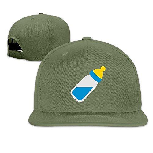 k Adjustable Truck Cap Sports Travel Hat Natural, Baby Bottle Baseball Flat Hat ()