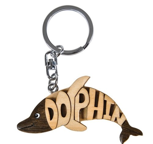 4'' DOLPHIN WORD KEYCHAIN, Case of 120