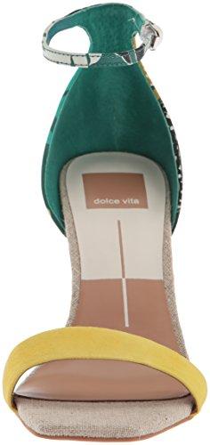 Sandal Dolce Palm Print Women's Green Halo Heeled Vita R1RqZ