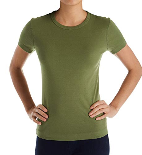 Dots Spanish - Three Dots 1x1 Short Sleeve Crew Neck Tee (AA1C032) S/Spanish Olive
