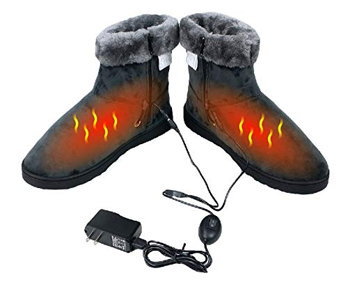 (ObboMed MF-2600L USB 5V, 10W Carbon Fiber Heated Warming Booties - Heating Slippers, Infrared Shoe, Warm Pad, Foot Heater, Cold feet solution. (5V, 10W, L: #45.5 fits foot up to 45.5))
