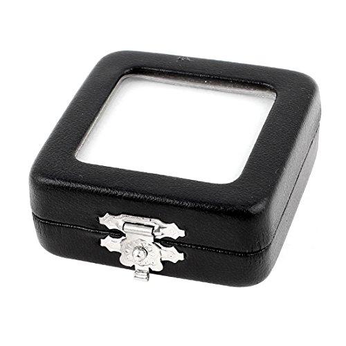 UPC 711331511959, uxcell Faux Leather Square Shape Jewelry Holder Case Organizer Box Black