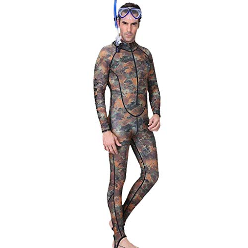 Allywit Full Body Wetsuits, Premium Neoprene 3mm Men's Diving Suit for Underwater Scuba Jumpsuit Camouflage by Allywit (Image #1)