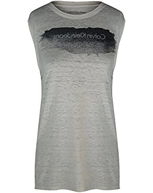 Calvin Klein Jeans Brushed Glitter Logo Tank