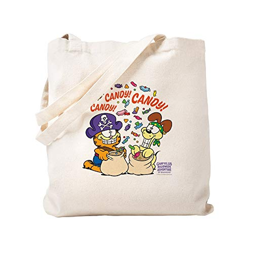 CafePress Candy! Candy! Candy! Natural Canvas Tote Bag, Cloth Shopping Bag -