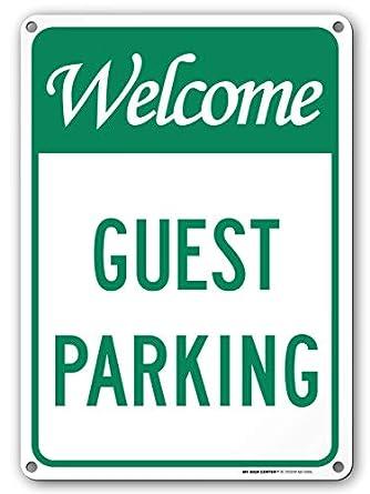 Cartel de aparcamiento para invitados, 25,4 x 35,5 cm ...