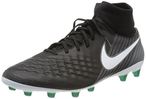 Nike Magista Onda II DF AG-Pro, Scarpe da Calcio Uomo Nero (Black/White-dk Grey-stadium Green)