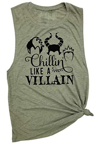 GEMLON Chillin' Like A Villain Funny Halloween Women