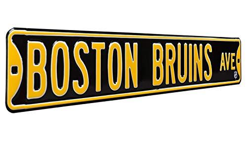 NHL Boston Bruins Ave, Heavy Duty, Metal Street Sign Wall Decor (Street Signs Wall Decor)
