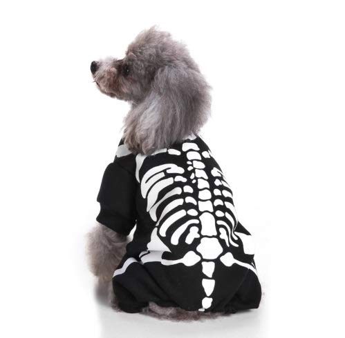 Taka Co Dog Halloween Costume Halloween Pet Costumes for Small Dogs Skull Funny Dog Costume Holiday Cute Dog Clothes Jumpsuit Pet Clothing Gift