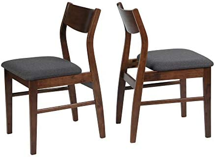 LUCKYERMORE Dining Room Chairs Set of 2 Mid Century Modern Kitchen Restaurant Side Chair