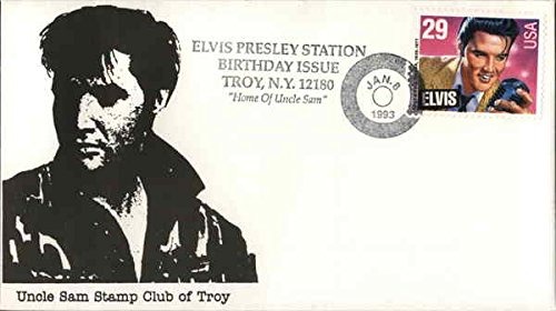 Elvis Presley Station Birthday Issue - Troy, N.Y. 12180 Home of Uncle Sam Original First Day (Home Original Issue)