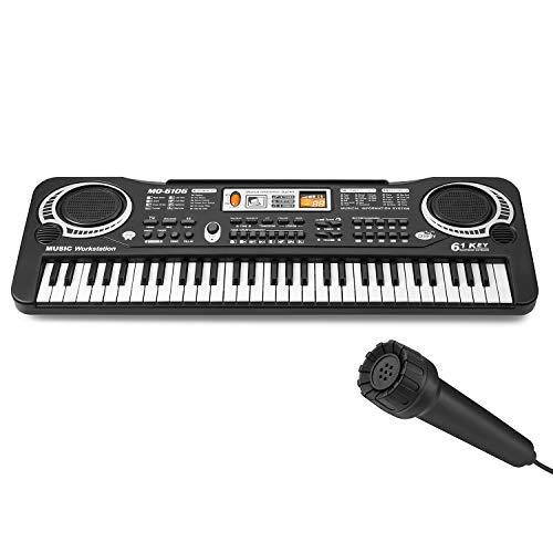 Lonian Kids Piano Keyboard 61 Keys, Piano Keyboard Toy Electronic Organ Musical Instrument Piano for Kids, Son, Daughter, Grandson, Granddaughter