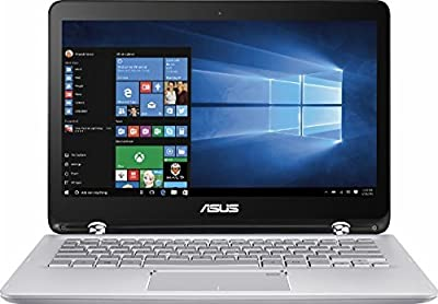 Premium ASUS Q304UA 13.3-inch 2-in-1 Touchscreen Full HD Laptop PC, 7th Intel Core i5-7200U up to 3.1GHz, 6GB RAM, 1TB HDD, Silver