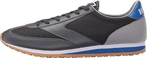 Brooks Heritage Mens Decennium Voorhoede Sneaker Antraciet / Natte Sneeuw / Elektrisch Blauw / Wit