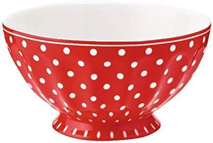 Bol de peluche Greengate French Bowl XL Flora White