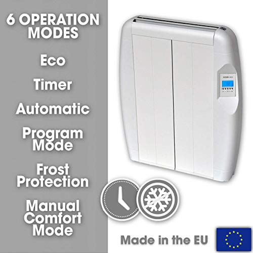 Futura-Eco-Panel-Heater-24-Hour-7-Day-Timer-600W--1500W-Wall-Mounted-Low-Energy-Electric-Heater-for-home-Slimline-Electric-Radiator-Efficient-Convector-Heater-Digital-thermostat