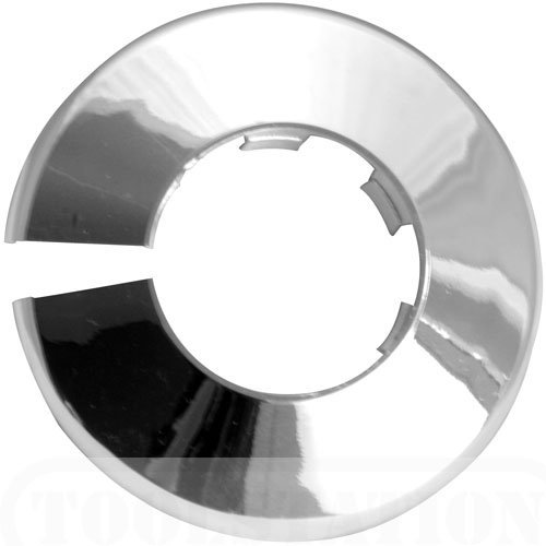 Talon x 2 Chrome 42mm Pipe Cover/ Collar/Rad ring for 42mm pipe PCC42
