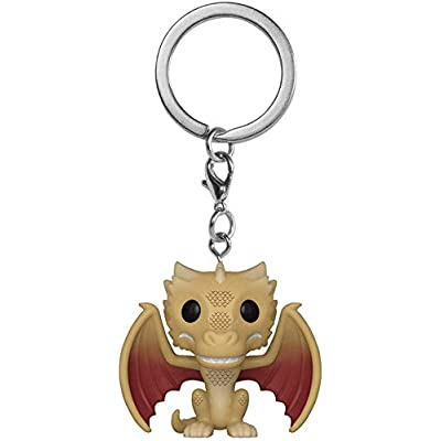 Funko Pop! Keychain: Game of Thrones - Regular Viserion, Multicolor: Toys & Games