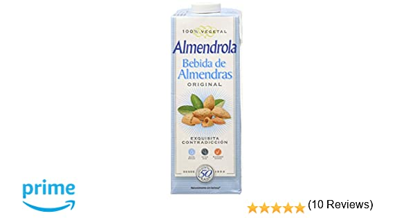 Almendrola Bebida Vegetal de Almendras con Azúcar - Paquete de 6 x 1000 ml - Total: 6000 ml: Amazon.es: Alimentación y bebidas