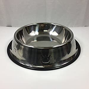 Fixture Displays 50-oz Dog/Cat Bowl Stainless Steel Dog Pet Food Or Water Bowl Dish 12197 12197 Click on image for further info.