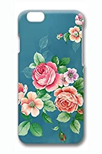 The Colorful Peony Slim Hard Cover Case For Iphone 6 4.7Inch Cover PC 3D Cases