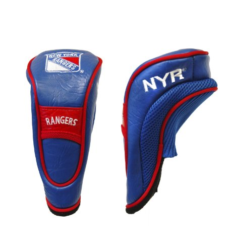 Team Golf NHL New York Rangers Hybrid Golf Club Headcover, Velcro Closure, Velour lined for Extra Club Protection