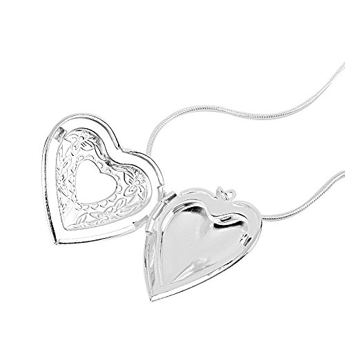 Printing Obama Cover (New! 925 Sterling Silver Heart Photo Locket Pendant Necklace 18