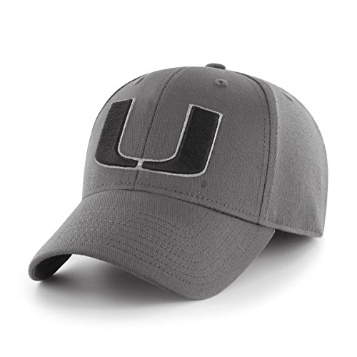 OTS Adult Men's NCAA Comer Center Stretch Fit Hat, Charcoal, Large/X-Large