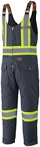 Insulated Heavy-Duty Work Overall Bib Pants- 4 Pockets
