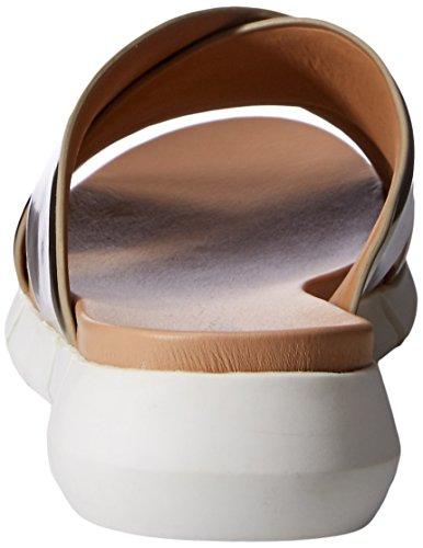 Calvin Klein Donna Plateau Sandalo Con Platino Morbido
