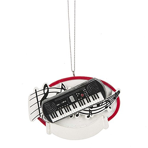 Keyboard Piano 3.5 X 3 Inch Resin Christmas Ornament Figurine Picture