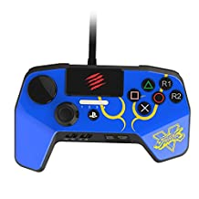 Mad Catz Street Fighter V FightPad PRO for PlayStation 4 and PlayStation 3 - Blue