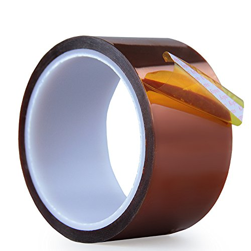 High Temperature Heat Resistant Tape 50mm X108ft AIYUNNI Kapton Tape Polyimide Film Adhesive Tape Heat Press Tape Sublimation Tape - for Heat Transfer Vinyl,Masking,3D Printing,Soldering