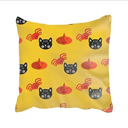 Ranhkdn Halloween Pattern Pillowcases Durable Square Decorative Throw Pillows Cushion -