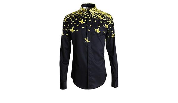 New Star Light Camisa Negra para Hombre Camisa Camisa para ...
