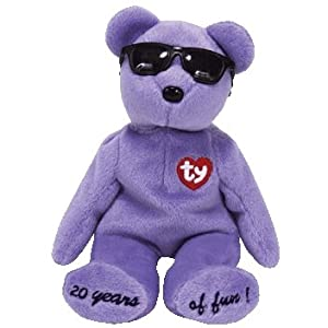 TY Beanie Baby - SUMMERTIME FUN the Bear (PURPLE - Toronto, Canada Gift Show Excl)