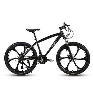 41aA7SHrYTL. SS300 JXH Adulti 24 Pollici Mountain Bike, Spiaggia motoslitta Biciclette, Biciclette Doppio Freno a Disco, Alluminio Lega…