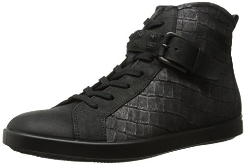 ECCO Footwear Womens Women's Aimee High Top Sneaker, Black, 41 EU/10-10.5 M US ()