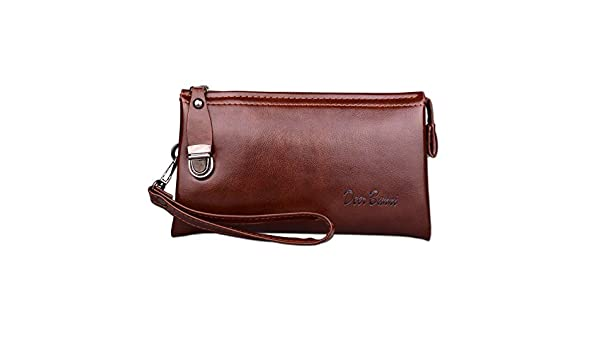 Amazon.com: Men Leather Long Wallet Cartera Hombre Male Handy Bags Clutch Purse Monederos Wallets Luxury: Kitchen & Dining