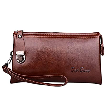 Men Leather Long Wallet Cartera Hombre Male Handy Bags Clutch Purse Monederos Wallets Luxury