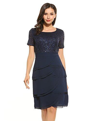Kleid mit volant und spitze