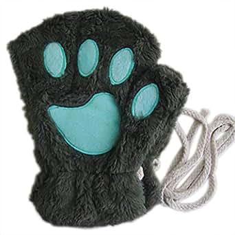 Amazon.com: Hacoly Women Bear Plush Cat Paw Claw Glove