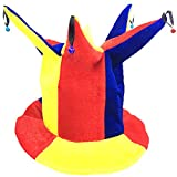 Blancho Bedding Fancy Dress Hat Jester Hat Fun Multi-Color Halloween Party Costumes,Clown Hat#11