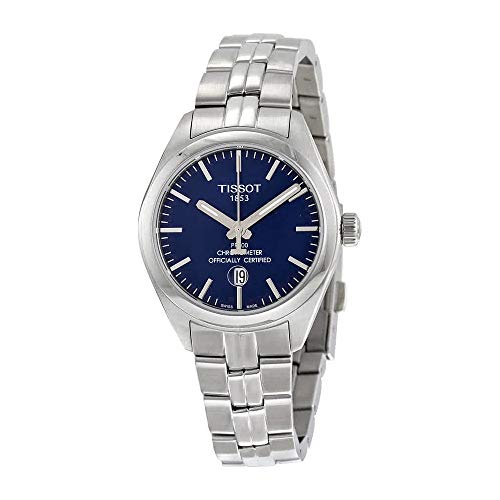 (Tissot PR 100 Quartz COSC Lady Blue Dial Stainless Steel Watch T1012511104100)
