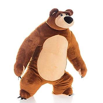 Amazon.com: Masha y el oso de peluche divertido de 15,7 ...
